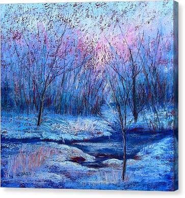 Frosty Morning Canvas Print by Christine Bass