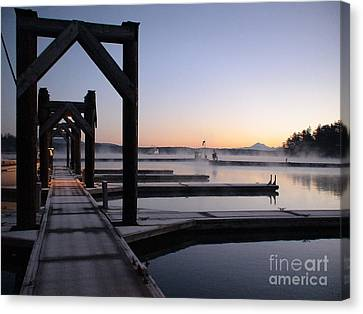 Canvas Print featuring the photograph Frosty Morning by Laura  Wong-Rose