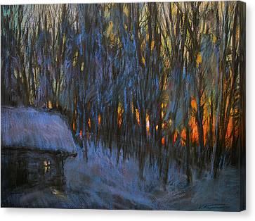 Frosty Morning Canvas Print by Valery Kosorukov