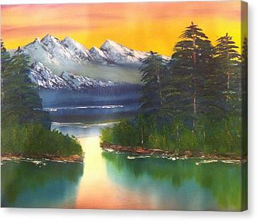 Frosty Peaks Canvas Print by Bill Murray