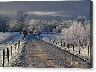 Frosty Sparks Lane Canvas Print