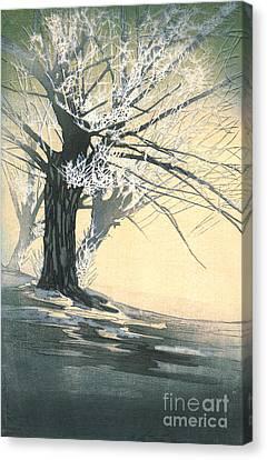Frosty Tree 1920 Canvas Print by Padre Art