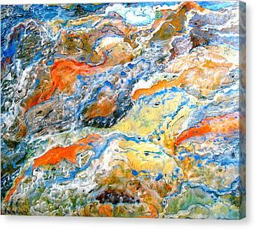 Froth Canvas Print by Karunita Kapoor
