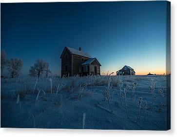 Abandoned House Canvas Print - Frozen And Forgotten by Aaron J Groen