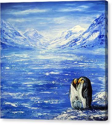 Frozen Canvas Print by Ann Marie Bone