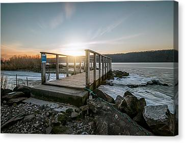 Canvas Print featuring the photograph Frozen by Anthony Fields