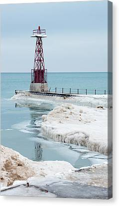 Frozen Beach Canvas Print