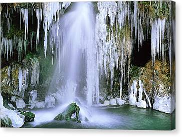 Frozen Beauty Aka Ice Is Nice Xi Canvas Print by Bijan Pirnia