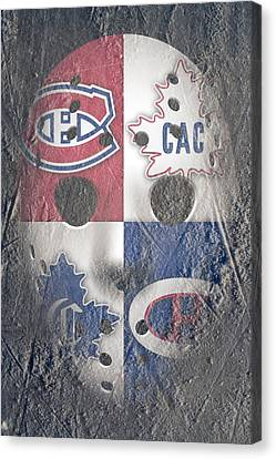 Frozen Canadiens Canvas Print by Joe Hamilton