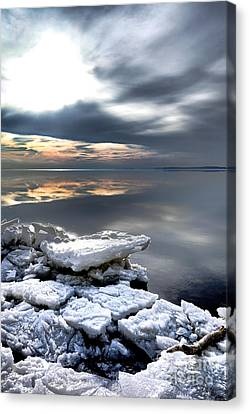 Maryland Canvas Print - Frozen Chesapeake by Olivier Le Queinec