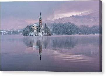 Frost Tower Canvas Print - Frozen Fairytale by Ales Krivec