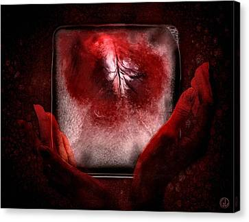 Frozen Heart Canvas Print by Gun Legler