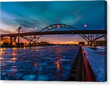 Frozen Hoan Bridge Canvas Print