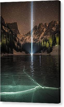 Frozen Illumination At Dream Lake Rmnp Canvas Print by Mike Berenson