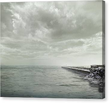 Frozen Jetty Canvas Print