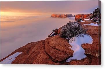 Frozen Mesa Canvas Print by Chad Dutson