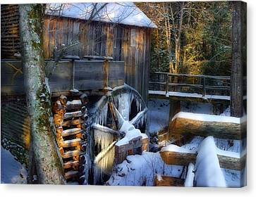 Frozen Mill In The Cove Canvas Print
