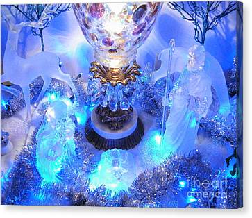 Frozen Nativity 2 Canvas Print