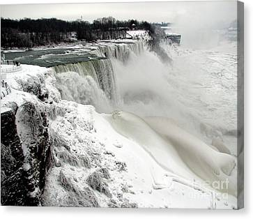 Frozen Niagara And Bridal Veil Falls Canvas Print