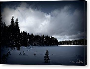 Canvas Print featuring the photograph Frozen Nickel Plate Lake by Guy Hoffman