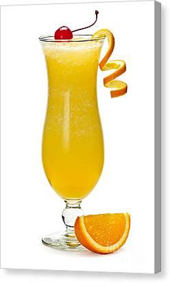 Frozen Orange Drink Canvas Print by Elena Elisseeva
