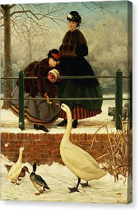 Frozen Out Canvas Print by George Dunlop Leslie
