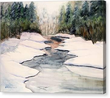 Frozen Over Canvas Print by Kristine Plum