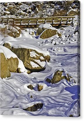 Frozen Roaring River Canvas Print by Tom Wilbert