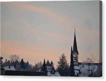 Canvas Print featuring the photograph Frozen Sky 2 by Felicia Tica