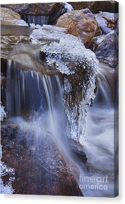 Canvas Print featuring the photograph Frozen Stream by Rafael Quirindongo