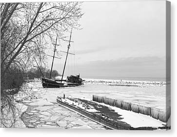 Frozen Tall Ship Canvas Print by Nick Mares
