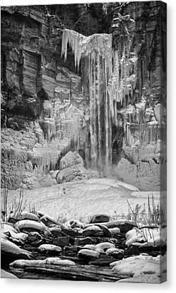 Frozen Taughannock Falls Canvas Print by Monroe Payne