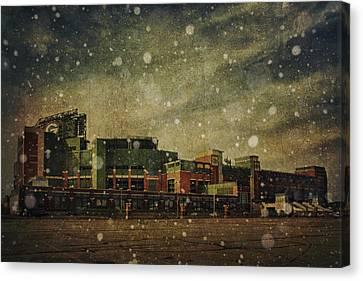 Frozen Tundra Part II - Lambeau Field Canvas Print by Joel Witmeyer