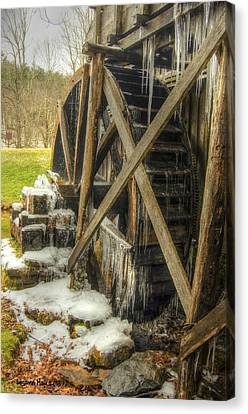 Frozen Water Wheel Canvas Print