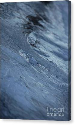 Canvas Print featuring the photograph Frozen Wave by First Star Art