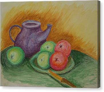 Fruit And Pot Canvas Print by Paul Morgan