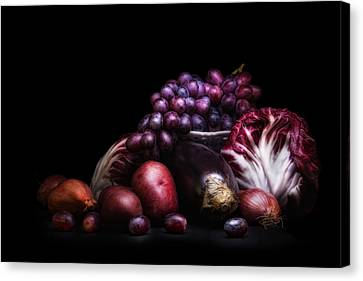 Fruit And Vegetables Still Life Canvas Print by Tom Mc Nemar