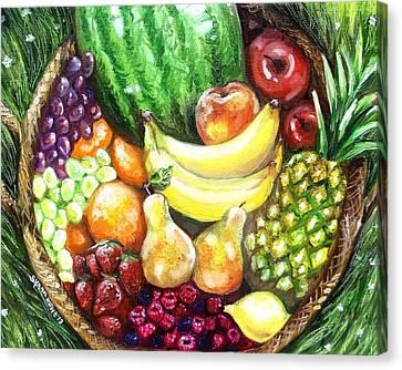 Fruit Basket Canvas Print by Shana Rowe Jackson
