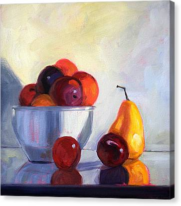 Fruit Bowl Canvas Print by Nancy Merkle