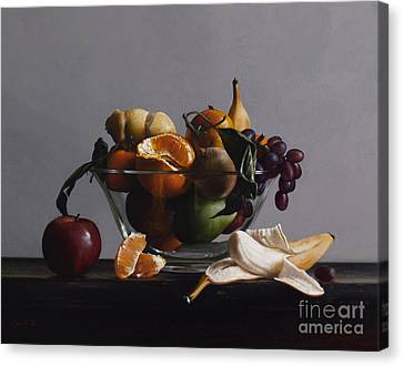 Fruit Bowl No.2 Canvas Print by Larry Preston
