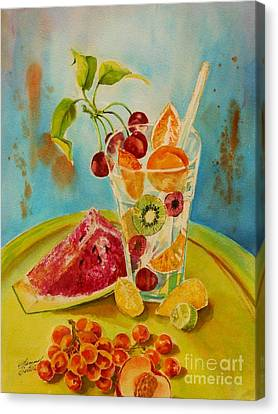 Fruit Coctail Canvas Print by Summer Celeste
