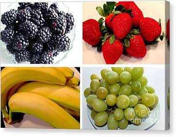 Fruit Collage Canvas Print by Barbara Griffin