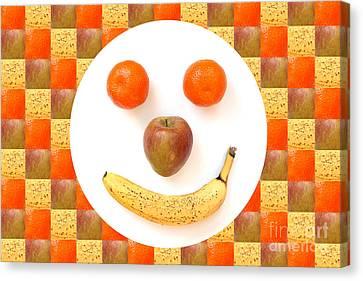 Fruit Face Canvas Print by Natalie Kinnear