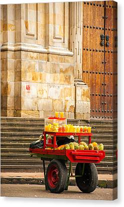 Fruit For Sale On A Cart Canvas Print by Jess Kraft