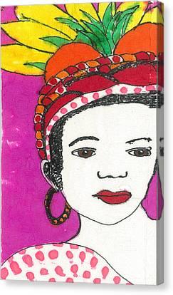 Fruit Hat Canvas Print