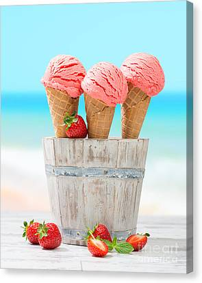 Fruit Ice Cream Canvas Print by Amanda Elwell