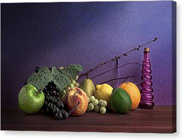 Flask Canvas Print - Fruit In Still Life by Tom Mc Nemar