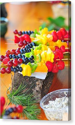 Fruit Kabobs  Canvas Print by Catherine Reusch Daley