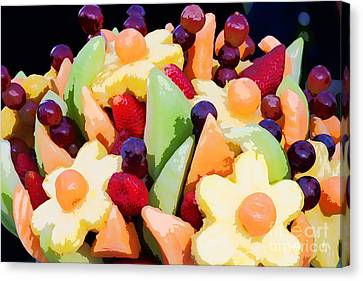 Fruit Kabobs Canvas Print by Cindy Singleton