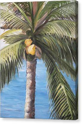 Fruit Of The Palm Canvas Print by Roberta Rotunda
